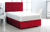 Alexis-Ottoman-Crushed-Velvet Ottoman Storage Bed In Crushed Velvet Red