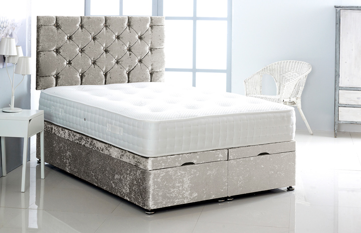 Alexis-Ottoman-Crushed-Velvet Ottoman Storage Bed In Crushed Velvet Silver