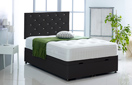 Alexis-Ottoman-Faux-Leather Ottoman Storage Bed In Faux Leather Black