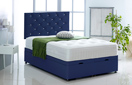 Alexis-Ottoman-Faux-Leather Ottoman Storage Bed In Faux Leather Blue