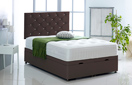 Alexis-Ottoman-Faux-Leather Ottoman Storage Bed In Faux Leather Dark-Brown