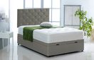 Alexis-Ottoman-Faux-Leather Ottoman Storage Bed In Faux Leather Grey