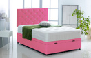 Alexis-Ottoman-Faux-Leather Ottoman Storage Bed In Faux Leather Pink