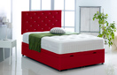 Alexis-Ottoman-Faux-Leather Ottoman Storage Bed In Faux Leather Red