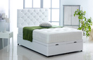 Alexis-Ottoman-Faux-Leather Ottoman Storage Bed In Faux Leather White
