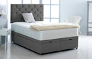 Alexis-Ottoman-Linen Ottoman Storage Bed In Linen Charcoal