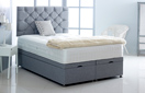 Alexis-Ottoman-Linen Ottoman Storage Bed In Linen Silver