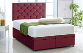 Alexis-Ottoman-Plush-Velvet Ottoman Storage Bed In Plush Velvet Burgundy