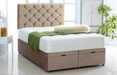 Alexis-Ottoman-Plush-Velvet Ottoman Storage Bed In Plush Velvet Coffee