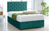 Alexis-Ottoman-Plush-Velvet Ottoman Storage Bed In Plush Velvet Mallard