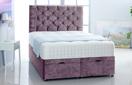 Alexis-Ottoman-Velvet Ottoman Storage Bed In Plain Velvet Lilac