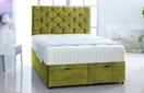 Alexis-Ottoman-Velvet Ottoman Storage Bed In Plain Velvet Olive