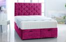 Alexis-Ottoman-Velvet Ottoman Storage Bed In Plain Velvet Pink