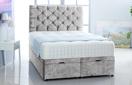 Alexis-Ottoman-Velvet Ottoman Storage Bed In Plain Velvet Silver