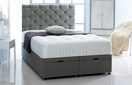 Ottoman-Chenille Ottoman Storage Bed In Luxury Chenille Dark-Grey