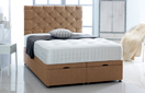 Ottoman-Chenille Ottoman Storage Bed In Luxury Chenille Mink