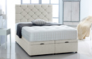 Ottoman-Chenille Ottoman Storage Bed In Luxury Chenille New-Cream
