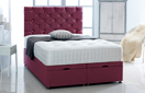 Ottoman-Chenille Ottoman Storage Bed In Luxury Chenille Plum