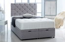 Ottoman-Chenille Ottoman Storage Bed In Luxury Chenille Silver