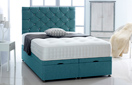 Ottoman-Chenille Ottoman Storage Bed In Luxury Chenille Teal