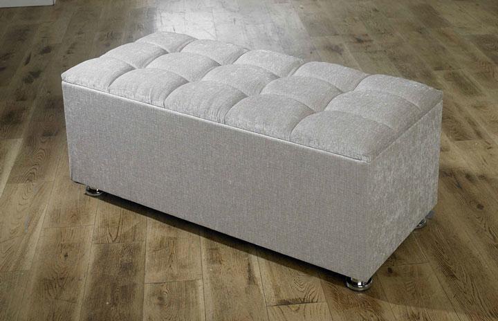 new ottoman storage blanket box in chenille
