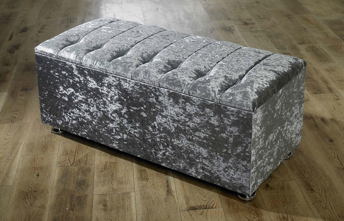 ottoman storage blanket box in crushed