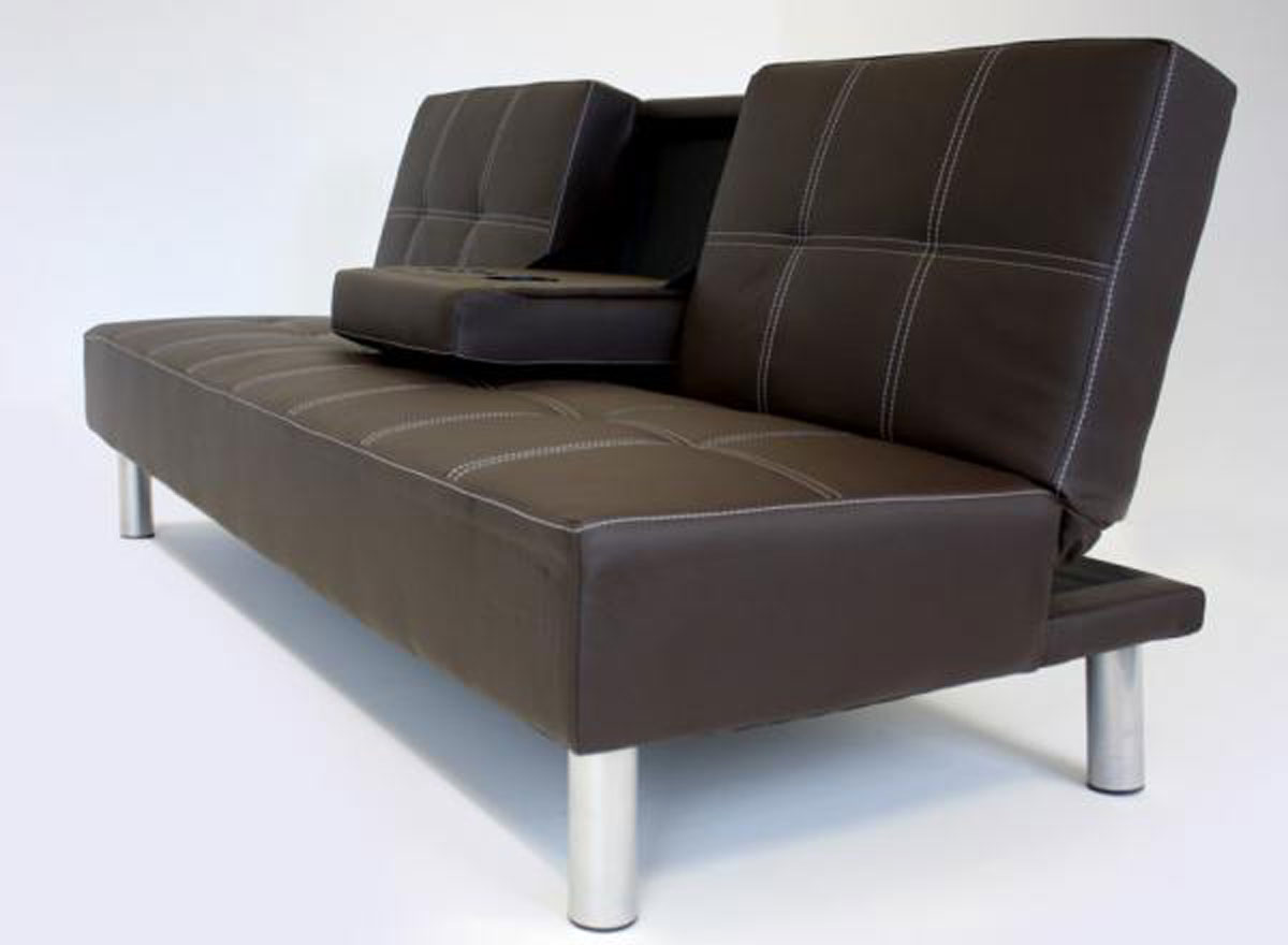 Bali Faux Leather Sofa Bed