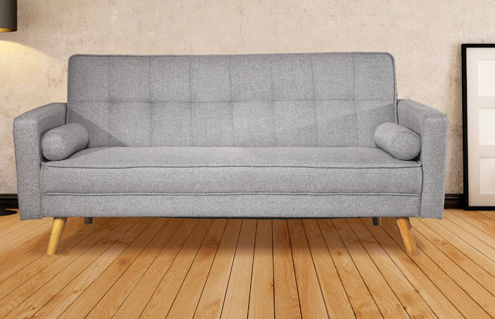 Bologna-Sofabed Fabric Modern 3 Seater Sofabed Grey1