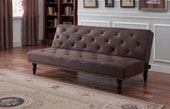 Chester Antique Style Faux Suede Sofabed 1