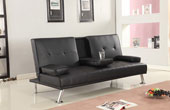 Maestro Italian Style Sofabed With Drop Down Table Black