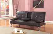 Maestro Italian Style Sofabed With Drop Down Table Brown