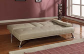 Maestro Italian Style Sofabed With Drop Down Table Cream