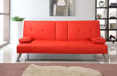 Maestro Italian Style Sofabed With Drop Down Table Red