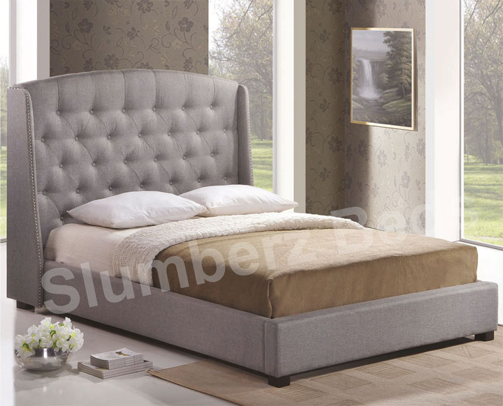 Sorrento fabric bed frame for Fabric bed frame with storage
