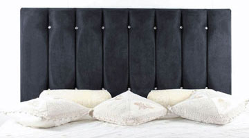 Stonebridge Suede Black Diamante Headboard