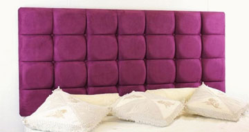 Templeton Faux Suede Headboard Purple