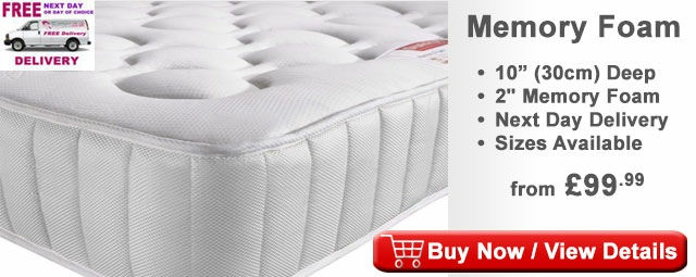 "Deals For 10"" Memory Foam Mattress And New Innovative Platform Bed Set - King Size"