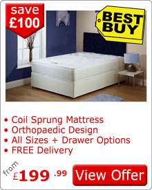 Exclusive Divan Bed With 25cm Orthopaedic Mattress