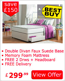 Special Offer Drawer Divan Bed and Headboard