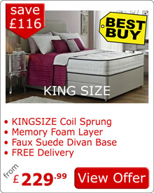King Size Divan Bed and Memory Foam Mattress 2AE
