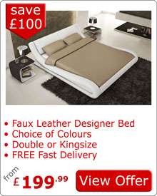 Marsanne Faux Leather Bed